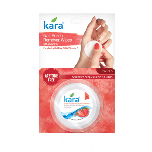 Buy Kara Nail Polish Remover Wipes Strawberry - Nykaa