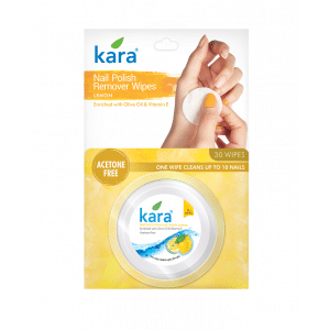 Buy Kara Nail Polish Remover Wipes Lemon - Nykaa