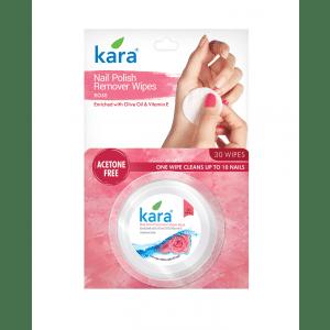 Buy Kara Nail Polish Remover Wipes Rose - Nykaa
