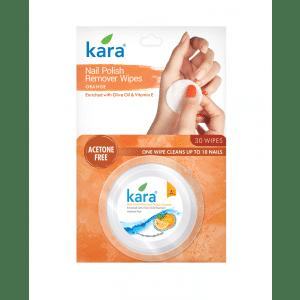 Buy Kara Nail Polish Remover Wipes Orange - Nykaa