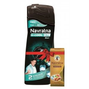 Buy Navratna I-Cool Talc Blast With Free Navratna Almond Cool Oil(Worth Rs.35) - Nykaa