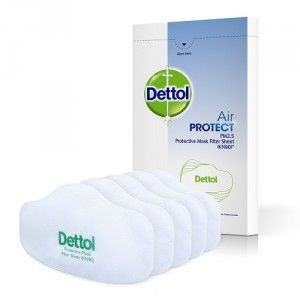 Buy Dettol Air Protect Protective Mask Filter Sheet - Pack of 5 - Nykaa