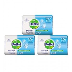 Buy Dettol Cool Soap Pack of 3 (3*75g) (Rs. 9 off) - Nykaa