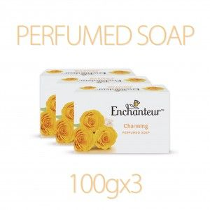 Buy Enchanteur Charming Perfumed Soap (Pack Of 3) (Rs.15 Off) - Nykaa