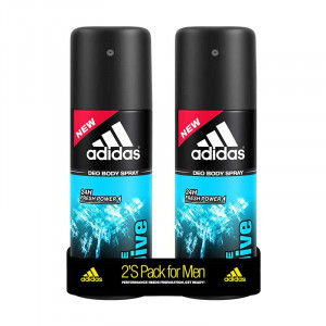Buy Adidas Ice Dive Deodorant Body Spray For Men Combo (Pack Of 2) - Nykaa