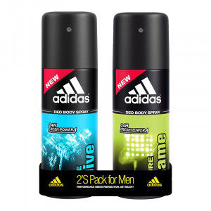 Buy Adidas Pure Game & Ice Dive Deodorant Body Spray Combo (Pack Of 2) - Nykaa