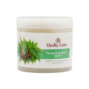 Buy Vedic Line Neem Brahmi Scrub - Nykaa