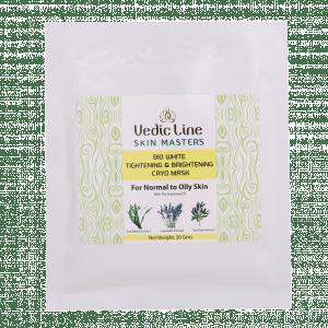 Buy Vedic Line Bio White Tightening & Brightening Cryo Mask (For Normal to Oily Skin) - Nykaa