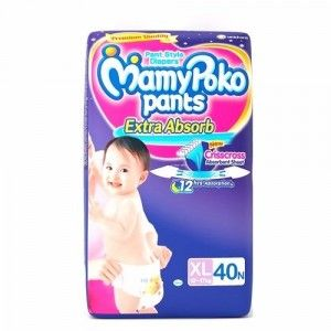 Buy MamyPoko Pants Extra Absorb Diapers - XL (40 Pieces) - Nykaa