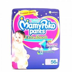 Buy MamyPoko Pants Extra Absorb Diapers - XL (56 Pieces) - Nykaa