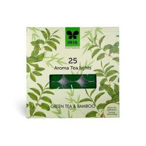 Buy Iris Aroma Pack of 25 Tea Lights - Green Tea & Bamboo - Nykaa