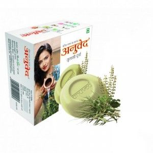 Buy Anuved Tulsi Durva Soap - Nykaa
