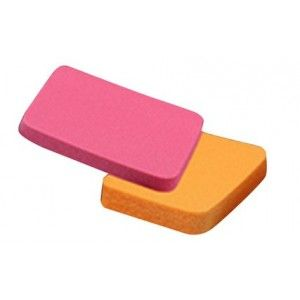 Buy Colorbar Peppy Duo Foundation Sponges (2 Piece) - Nykaa