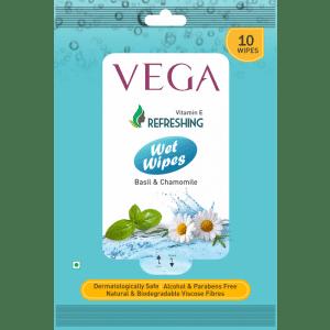 Buy Vega VWW-03 Wet Wipes Basil And Chamomile - Nykaa