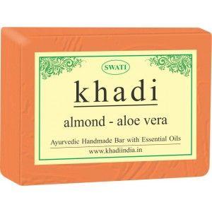 Buy Swati Khadi Almond Aloe Vera Soap - Nykaa