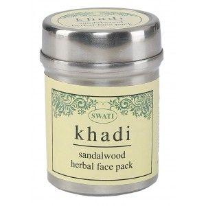 Buy Swati Khadi Sandalwood Herbal Face Pack - Nykaa