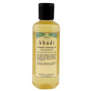 Buy Swati Khadi Aromatic Massage Oil With Geranium Oil - Nykaa