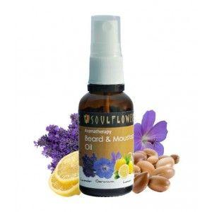 Buy Soulflower Aromatherapy Beard & Moustache Oil - Nykaa