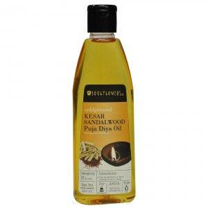 Buy Soulflower Kesar Sandalwood Puja Diya Oil - Nykaa