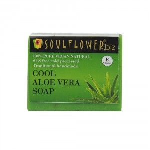 Buy Soulflower Cool Aloe Vera Soap - Nykaa