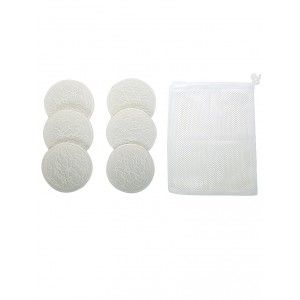 Buy Mee Mee Washable Cotton Maternity Breast Pads - White (6 pcs) - Nykaa