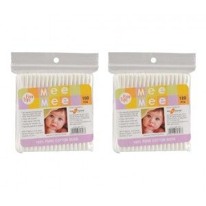 Buy Mee Mee Cotton Buds - 100 pcs White (Pack of 2) - Nykaa