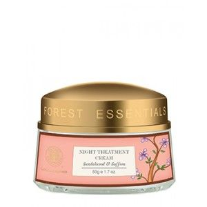 Buy Forest Essentials Night Treatment Cream Sandalwood & Saffron - Nykaa