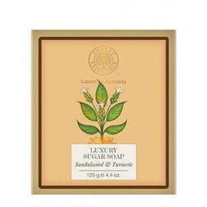 Buy Forest Essentials Luxury Sugar Soap Sandalwood & Turmeric - Nykaa