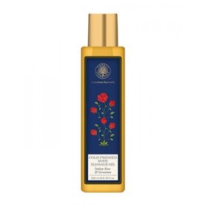 Buy Forest Essentials Cold Pressed Body Massage Oil - Indian Rose & Geranium - Nykaa