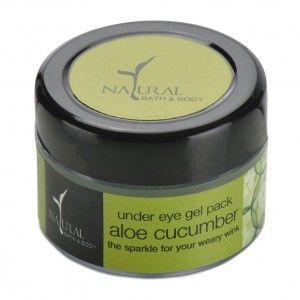 Buy Natural Bath & Body Under-Eye Gel Pack - Aloe Cucumber - Nykaa