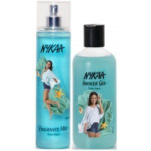 Buy Nykaa Fresh Aqua Combo - Fragrance Mist & Shower Gel - Nykaa