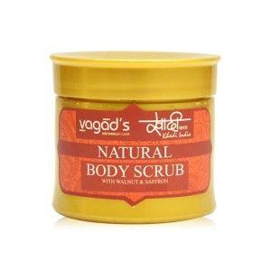 Buy Vagad's Khadi Body scrub with Walnut & Saffron - Nykaa