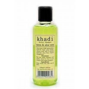 Buy Khadi Neem & Aloe Vera Shampoo - Nykaa