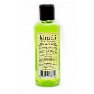 Buy Khadi Aloe Vera Scrub Face Wash - Nykaa