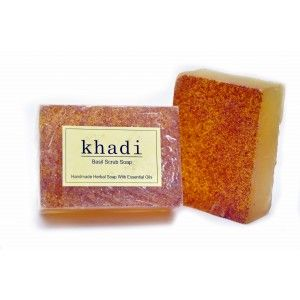 Buy Khadi Basil Scrub Soap - Nykaa