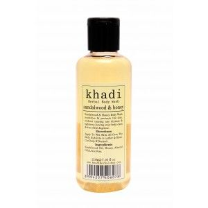 Buy Khadi Sandalwood & Honey Body Wash - Nykaa