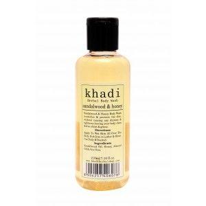 Buy Khadi Sandalwood & Honey Body Wash - Nykaa
