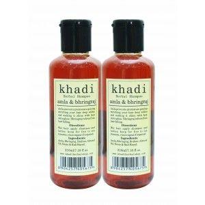 Buy Khadi Amla & Bhringraj Shampoo (Pack of 2) - Nykaa