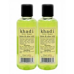 Buy Khadi Neem & Aloe Vera Shampoo (Pack of 2) - Nykaa