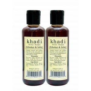 Buy Khadi Shikakai & Honey Shampoo (Pack of 2) - Nykaa