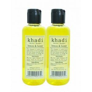 Buy Khadi Lemon & Honey Shampoo (Pack of 2) - Nykaa