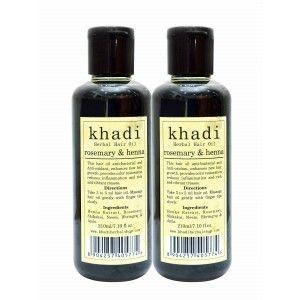 Buy Khadi Rosemary & Heena Hair Oil (Pack of 2) - Nykaa