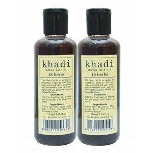 Buy Khadi 18 Herbs Hair Oil (Pack of 2) - Nykaa