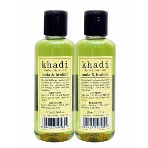 Buy Khadi Amla & Brahmi Hair Oil (Pack of 2) - Nykaa