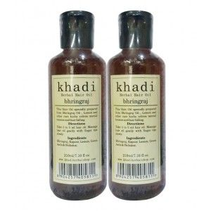 Buy Khadi Bhringraj Hair Oil (Pack of 2) - Nykaa