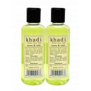 Buy Khadi Neem & Tulsi Face Wash (Pack of 2) - Nykaa