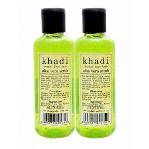 Buy Khadi Aloe Vera Scrub Face Wash (Pack of 2) - Nykaa