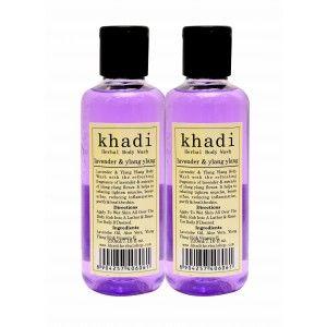 Buy Khadi Lavender & Ylang Ylang Body Wash (Pack of 2) - Nykaa