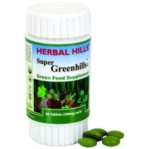 Buy Herbal Hills Super Greenhills Tablets - Nykaa