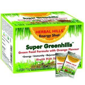 Buy Herbal Hills Super Greenhills Orange Flavour 2g X 30 Sachets Powder - Nykaa
